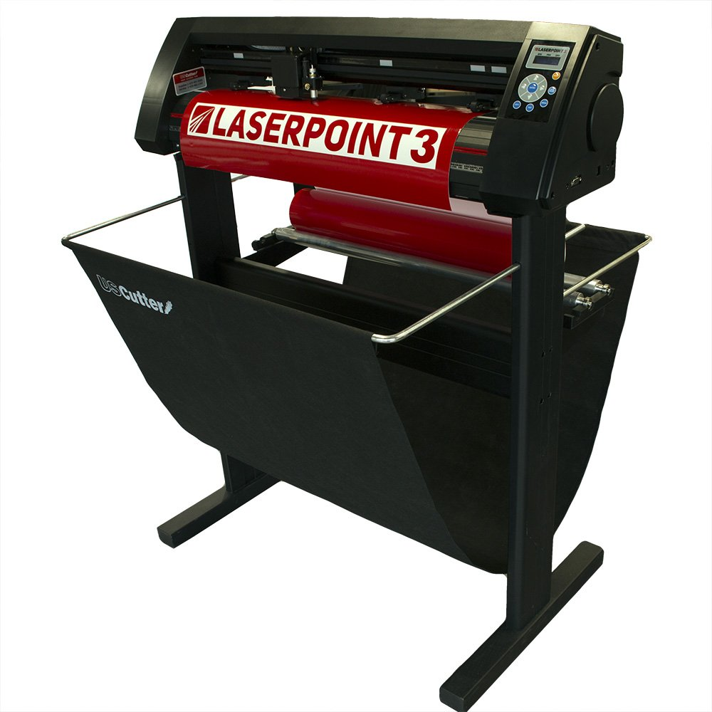 USCutter New 28'' LaserPoint 3 (LP3) Vinyl Cutter with ARMS Contour Cutting, Stand and Basket by USCutter (Image #1)