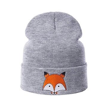 Sombrero Moda Sombreros De Invierno De Punto Mujeres Patrón Animal ...