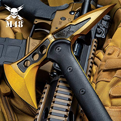 M48 Gold Tactical Tomahawk Axe with Snap On Sheath, used for sale  Delivered anywhere in USA