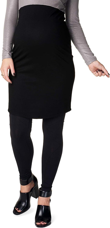 Noppies Rock Skirt Umstandsrock Paris mit Comfort Bund Bleistiftrock hinterem Schlitz Damen Umstandsmode 30785