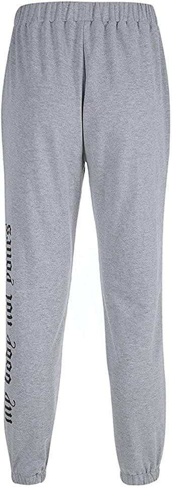 Pantalones de chándal holgados de algodón para mujer ...