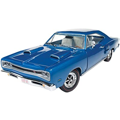 1969 Dodge Coronet R/T B5 Blue 50th Anniversary Limited Edition to 1002 pcs Worldwide 1/18 Diecast Model Car by Autoworld AMM1116: Toys & Games