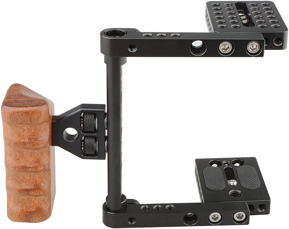 Right Hand CAMVATE DSLR Video Camera Cage Stabilizer Rig with Wooden Handle for Canon Nikon Sony