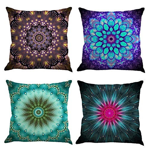 18/'/' Ethnic Mandala Cotton Linen Throw Cushion Cover Pillow Case Home Sofa Decor