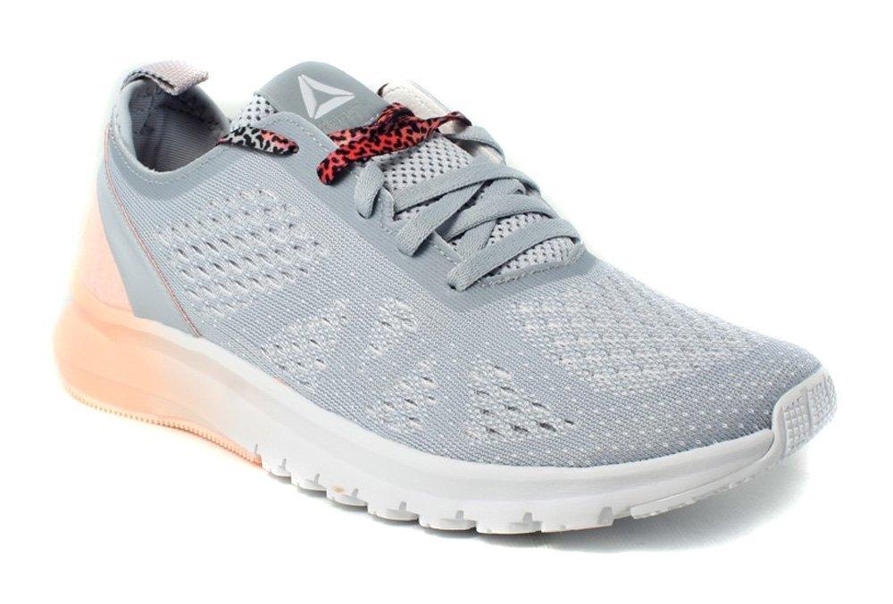 Reebok Women's Print Smooth Clip Ultk Track Shoe B01N7OWU55 8.5 B(M) US|Cloud Grey/White/Peach Twist/Pewter