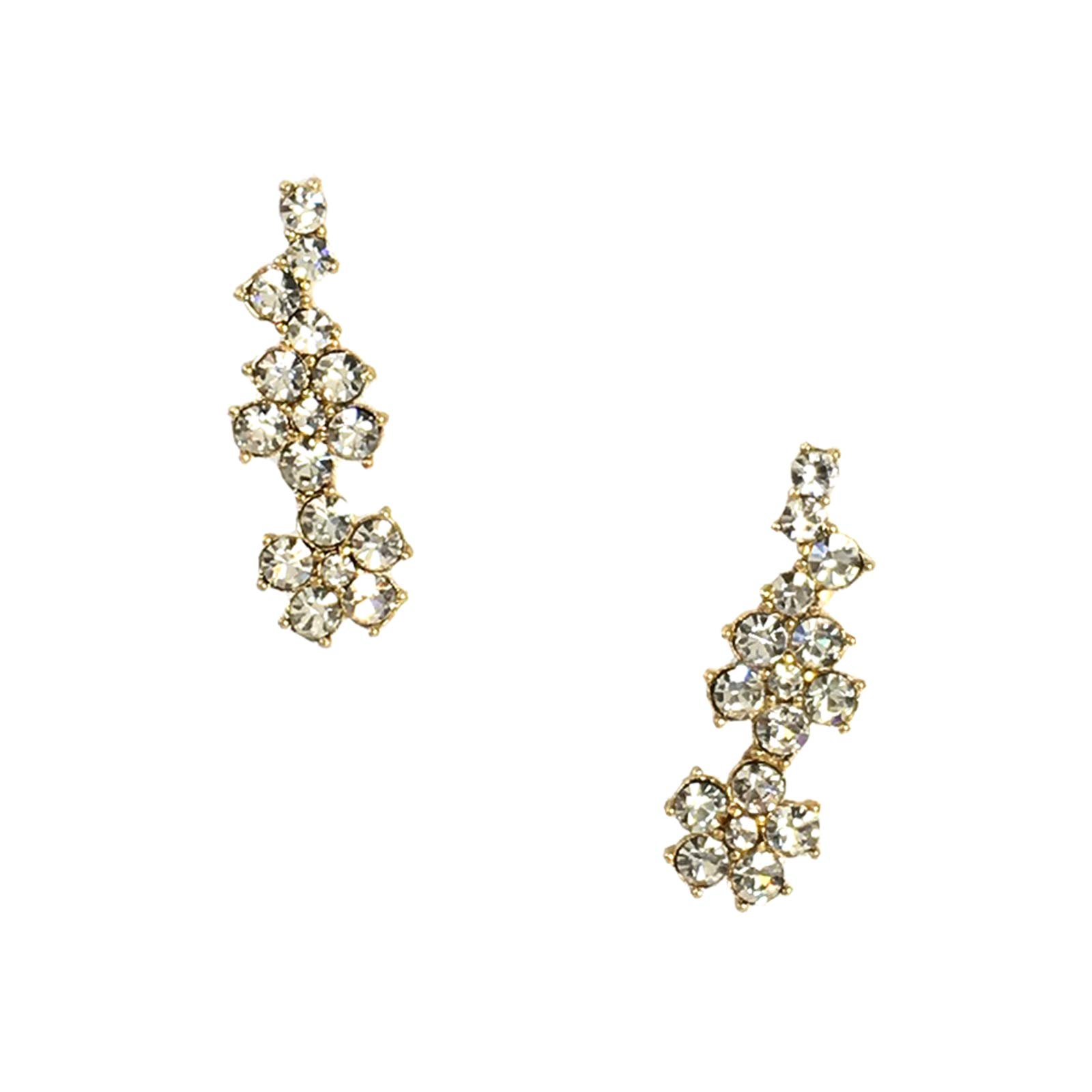 Kate Spade Crystal Flower Ear Pin Crawler Earrings, Clear by Kate Spade New York (Image #1)