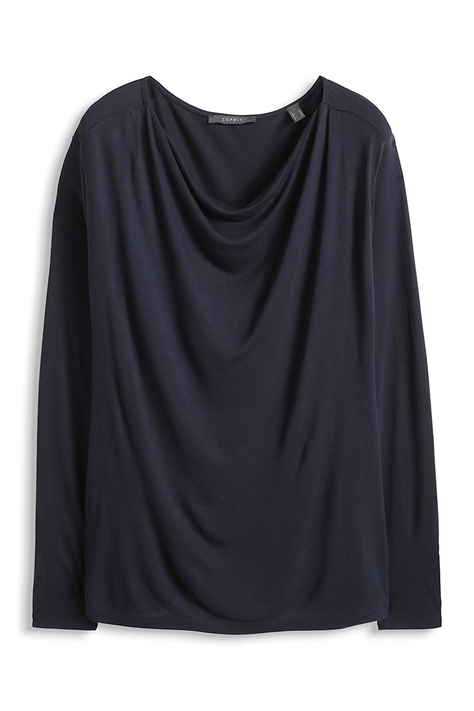 Esprit Wasserfall Optik - Camiseta para Mujer, Color Weiß (Off White 103), Talla 46