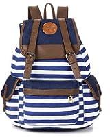 Rbenxia Canvas Backpack School Bag Stripe School College Bag for Teens Students Unisex
