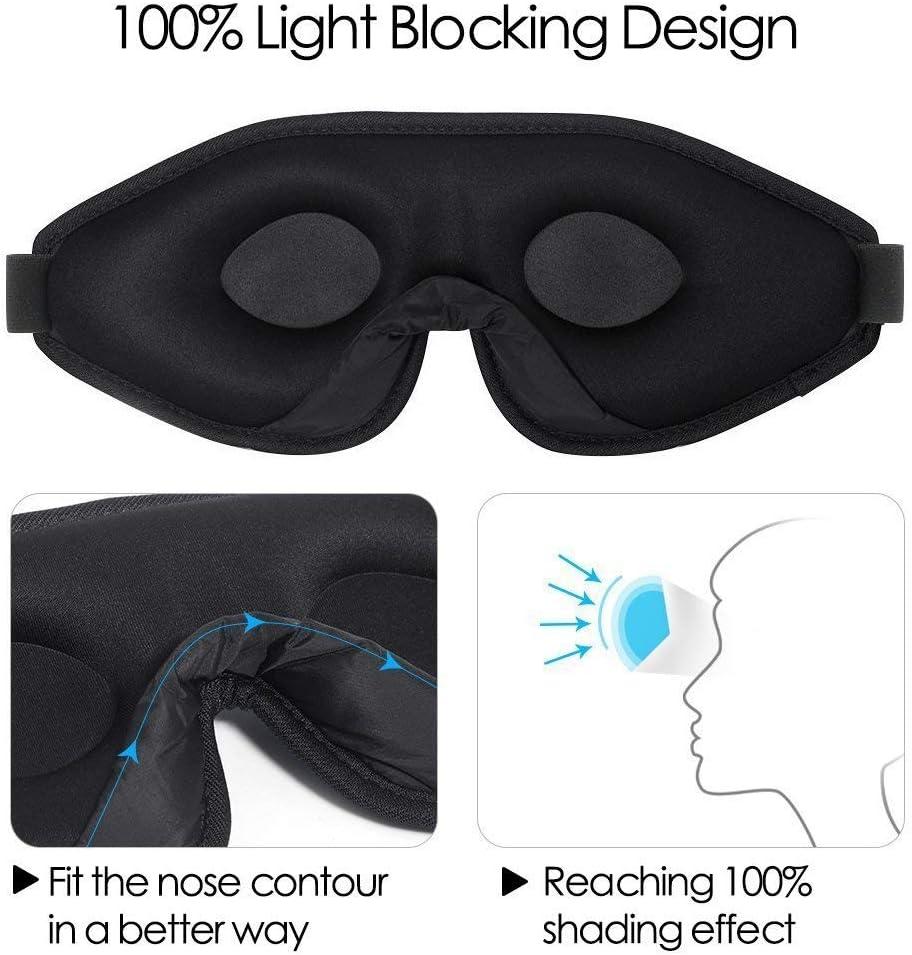 100/% Blockout Light Eye Cover /& Blindfold for Sleeping Night Sleeping Mask for Men Women Naps Shift Work 3D Contoured Eye Mask for Sleeping GINIMAX Sleep Mask