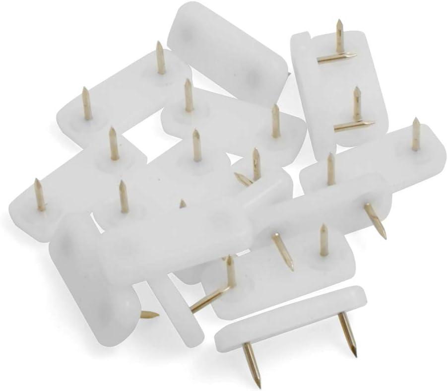 Design61 16x M/öbelgleiter Kunststoffgleiter 39x16 mm mit Nagel in Wei/ß
