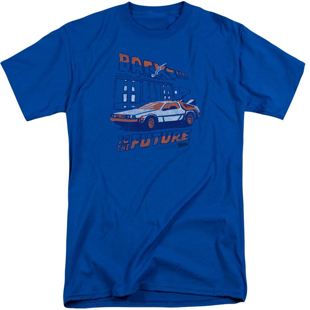 bf85e5da Amazon.com: Back To The Future Mens Lightning Strikes Tall T-Shirt ...