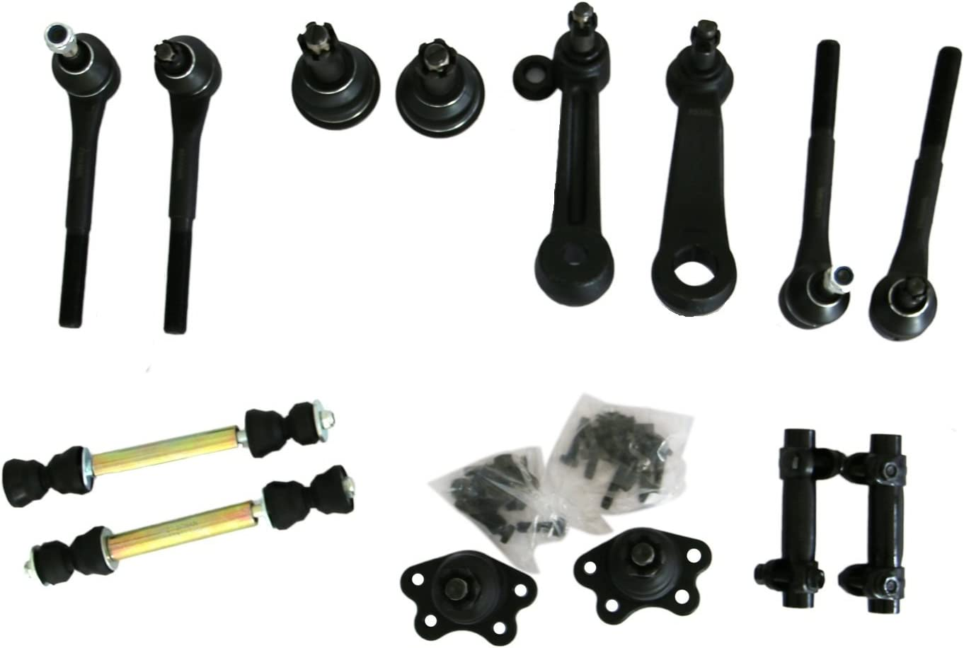 MOTORMAN 14 pc Front Suspension Set - Ball Joints, Sway Links