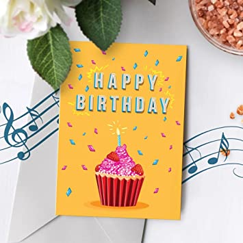 Cupcake Birthday Card With Music