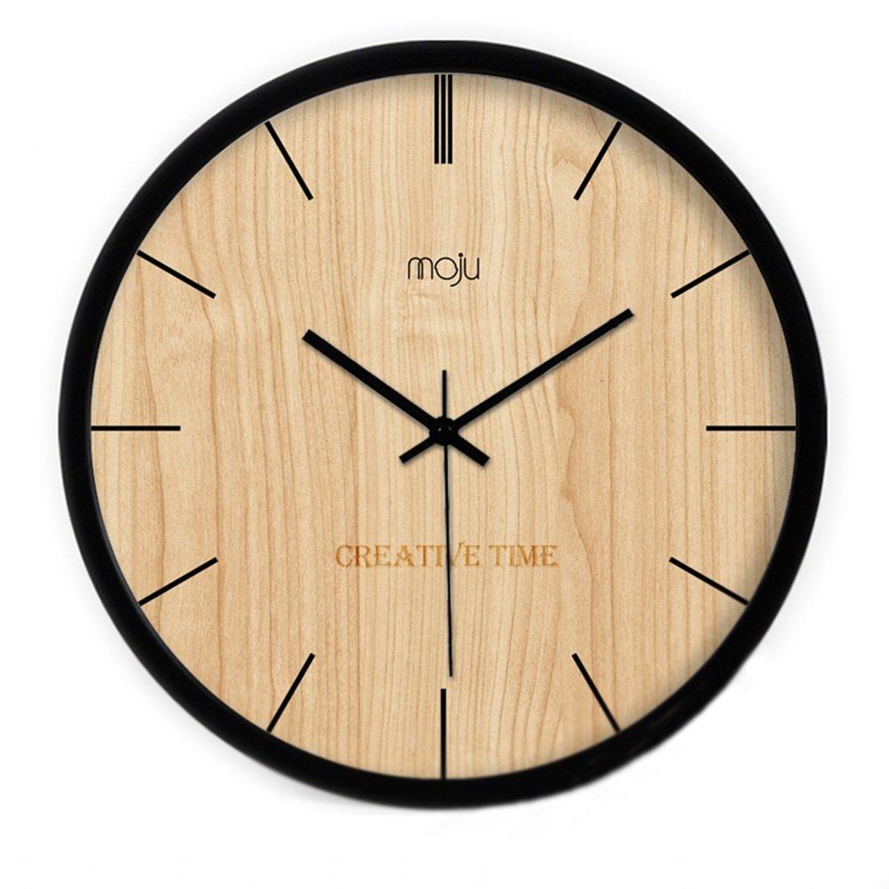 CSQ 木製壁時計、リビングルームレストランベッドルームバーウォールクロックコーヒーショップ茶店フラワーショップノスタルジックウォールクロック直径30-40CM ウォールクロックと掛け時計 (色 : B, サイズ さいず : 40*40cm) B07DNL1K9S 40*40cm|B B 40*40cm