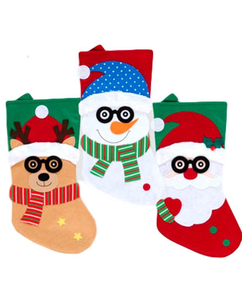 3 Piece Bundle Novelty Christmas Stocking