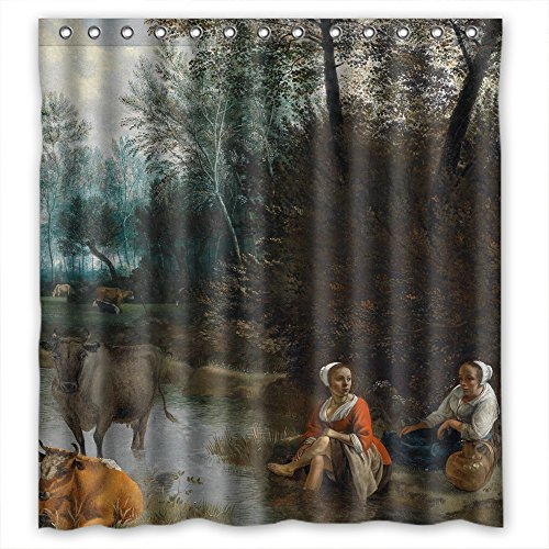 (Eyeselect Width X Height / 72 X 72 Inches / W H 180 By 180 Cm Beautiful Scenery Landscape Art Painting Shower Drape Polyester Fabric Ornament And Gift To Husband Gf Boys Birthday Valenti)