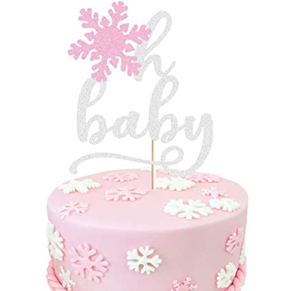 Stupendous Jevenis Glitter Silver Baby Its Cold Outside Cake Topper Winter Funny Birthday Cards Online Fluifree Goldxyz
