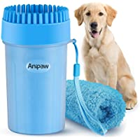 Bougainvillea Portable Dog Paw Cleaner, Anipaw Dog Paw Washer Cup with Towel Dog Cleaning Brush for Dogs/Cats, Silicone…