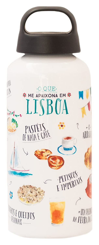 Lovely Streets –  Aluminium-Trinkflasche, Design Lissabon WOA03106