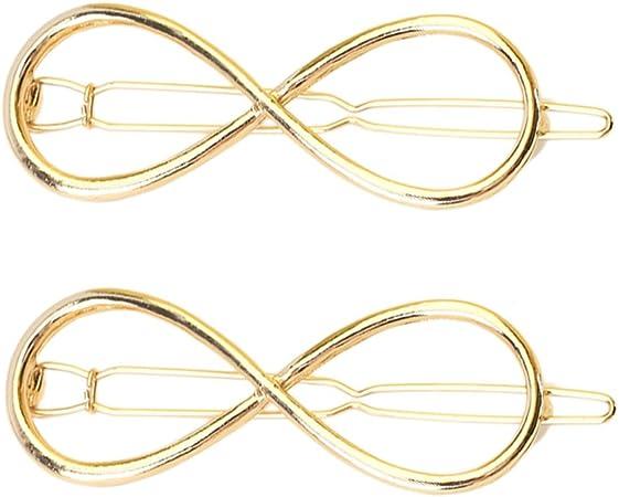 Pinzhi 2/x femmes fille or Plus Infini 8/Ic/ône Clip /épingles /à cheveux en m/étal pour les f/êtes
