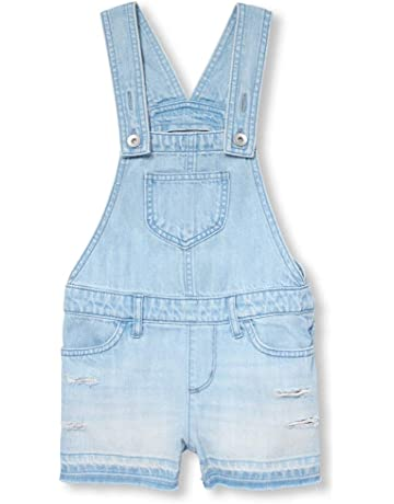 3b8a19b07 The Children s Place Big Girls  Denim Overall Shorts