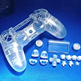 Generic Clear Housing Shell Case+Touchpad+ABXY+Thumb Stick Set for PS4 Controller DualShock 4