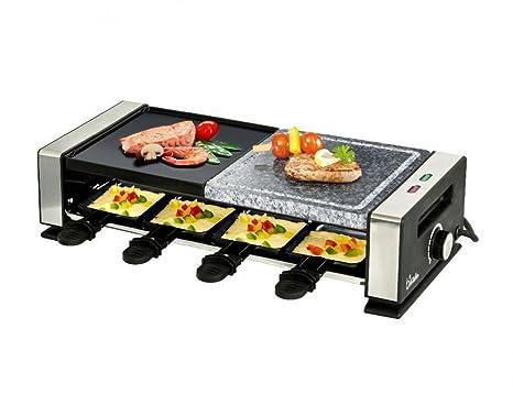 bkitchen Barbacoa 800 combinado Raclette Acero Inoxidable ...