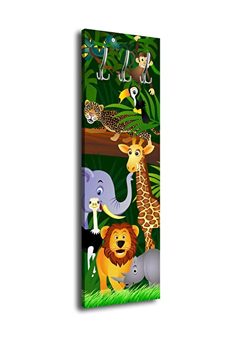 wandmotiv24 Perchero con diseño Animals G002 40 x 125 cm ...