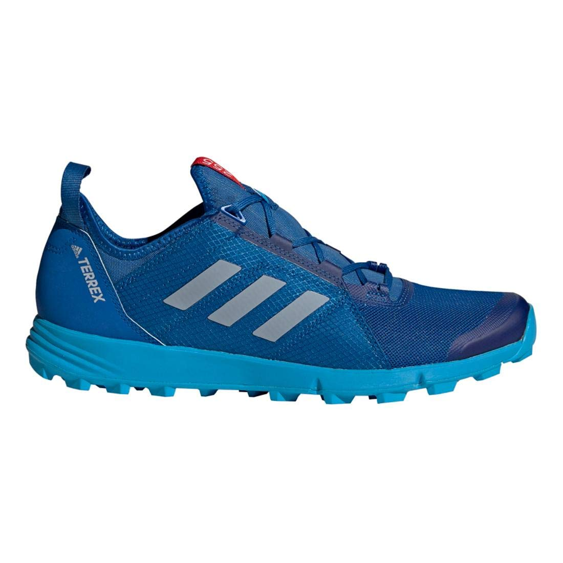adidas outdoor Terrex Agravic Speed Trail Running Shoe Men's Blue BeautyGrey TwoShock Cyan, 11.0