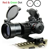 Ulako Tactical Reflex Stinger 5 MOA Red & Green Dot Sight Scope Picatinny Rail Mount for AR15 Rifle Shotgun