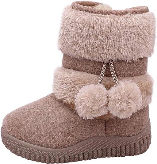 Fille Gar/çon Chaussures Bottes dhiver B/éb/é Enfant Bottines Mode de Neige avec Doublure Chaud Fourrure
