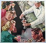 1950's Retro Antique Ice Cream Soda Fountain Vintage Poster