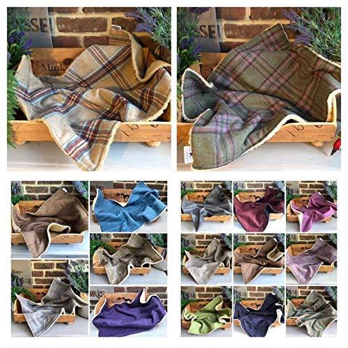 Luxury Tweed Dog//Pet Blanket//Pink Juno Medium