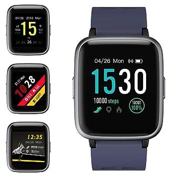 Montre Connectée, Montre Intelligente Smartwatch Bracelet Connecté Femmes Homme Écran Tactile Complet Fitness Tracker Activité Sport Sommeil Calorie ...