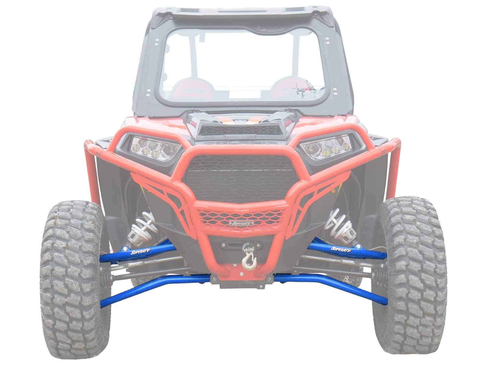 SuperATV Heavy Duty High Clearance Front A-Arms for Polaris RZR XP 1000 / XP 4 1000 (2014+) - Blue - Includes All 4 Arms - Non-Adjustable