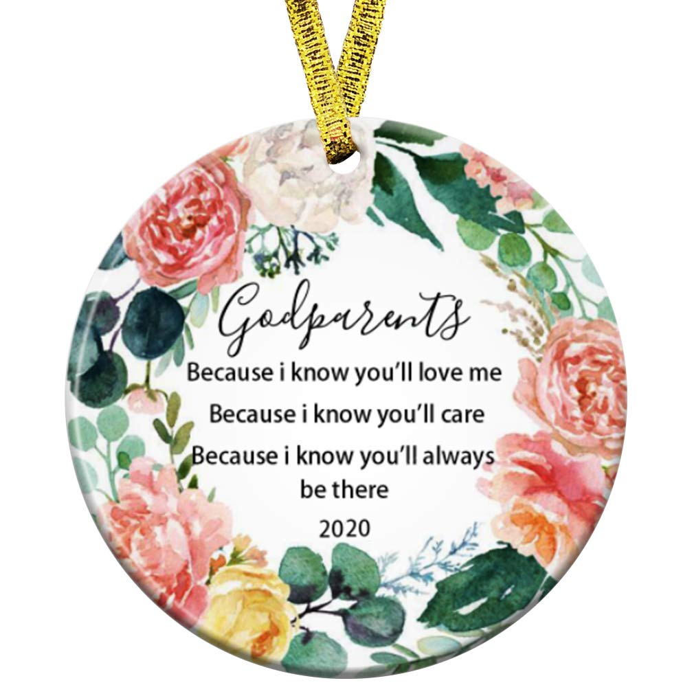 With Me Always Christmas Ornament Picture 2020 Buy Kooer 2020 Godparents Godmother Godfather I Know You Will Love