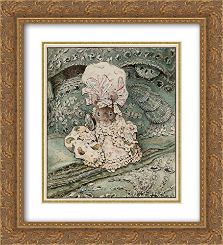 - Beatrix Potter 2X Matted 20x24 Gold Ornate Framed Art Print 'Lady Mouse in Mob Cap'