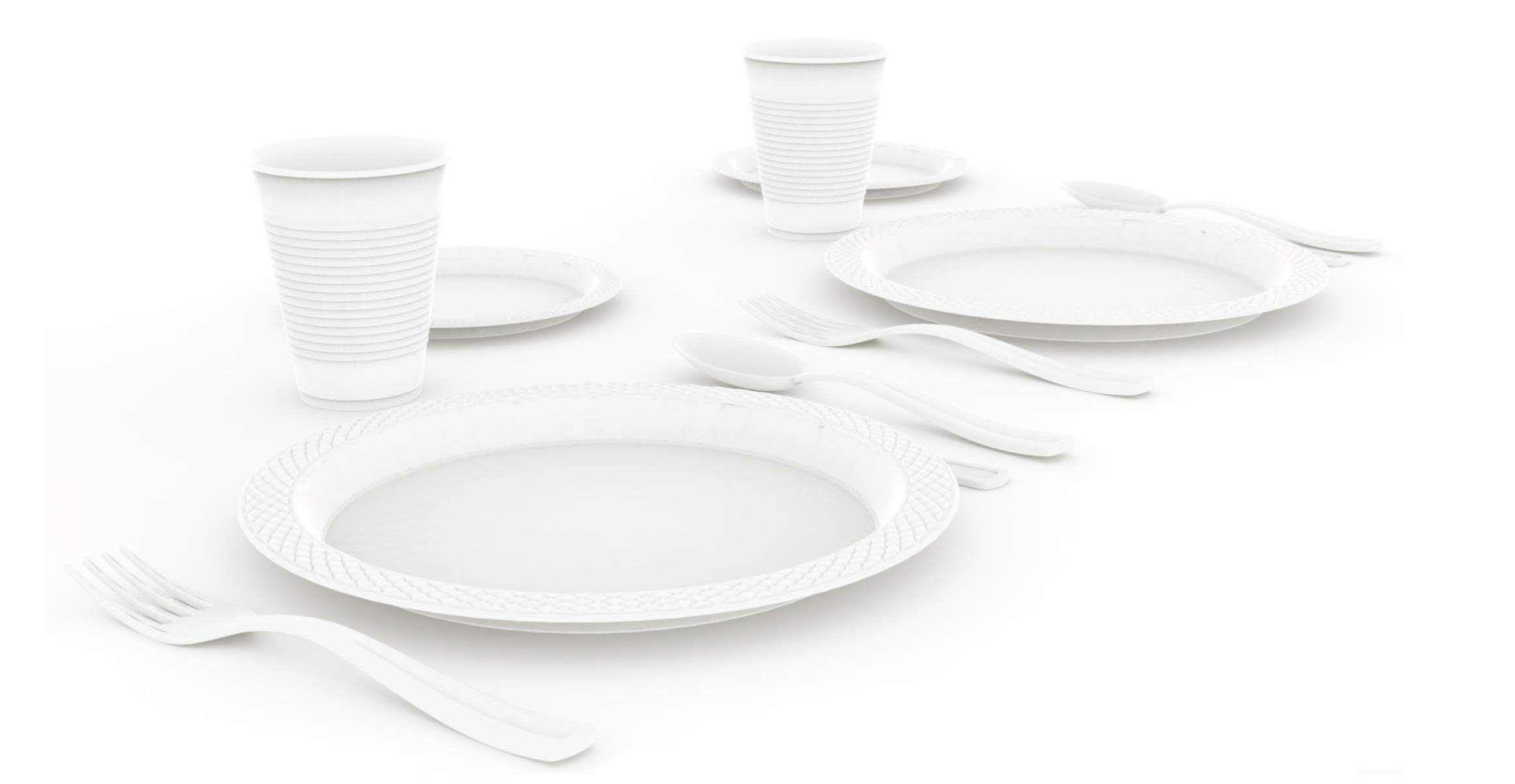 Exquisite 12-Pack Premium Plastic Tablecloth 54 Inch. x 108 Inch. Rectangle Table Cover-White by Exquisite (Image #2)