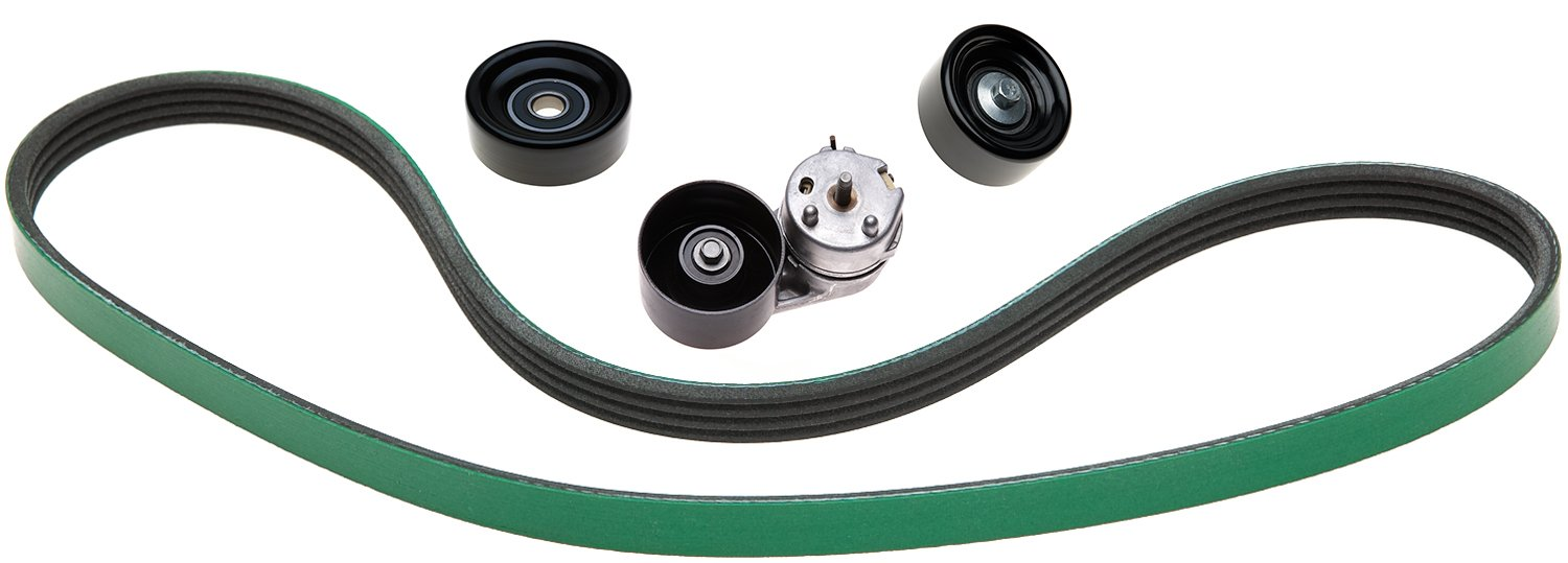 ACDelco ACK080865HD Professional Automatic Belt Tensioner and Pulley Kit with Tensioner Pulleys and Belt