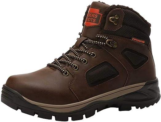 Nuevo botas de caballeros botas de goma invierno zapatos forro cálido talla 41-46