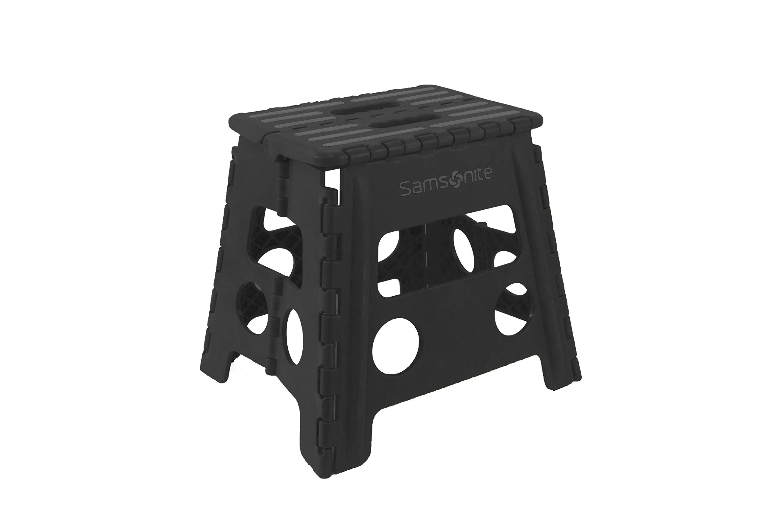 Samsonite Heavy Duty Folding Step Stool in Black - (13'' High Single Handle) by Vanderbilt Home