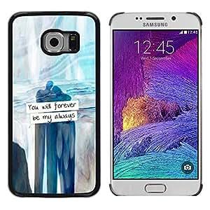 FlareStar Colour Printing Forever Always Sweetheart Love Valentines cáscara Funda Case Caso de plástico para Samsung Galaxy S6 EDGE / SM-G925 / SM-G925A / SM-G925T / SM-G925F / SM-G925I