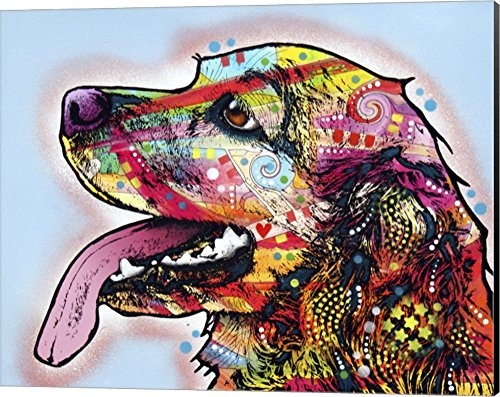 (Cocker Spaniel 1 by Dean Russo Canvas Art Wall Picture, Museum Wrapped with Black Sides, 20 x 16 inches)