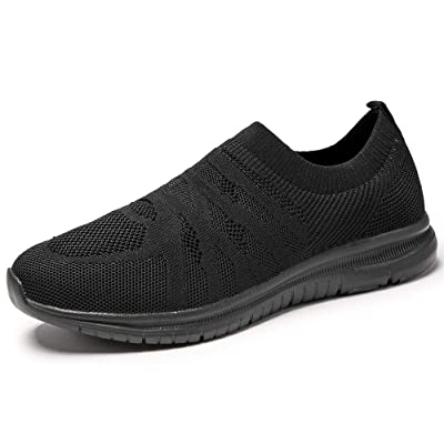 Yatorso Men's Slip On Walking Shoes Lightweight Breathable Athletic Causual Running Fashion Sneakers | Walking