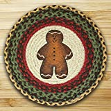 15.5in. x 15.5in. Gingerbread Men Round Chair Pad - Set of 4