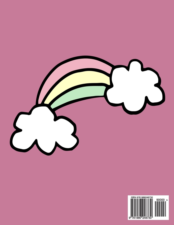 Sketchbook: Cute Pug In Unicorn Costume, Large Blank Sketchbook For ...