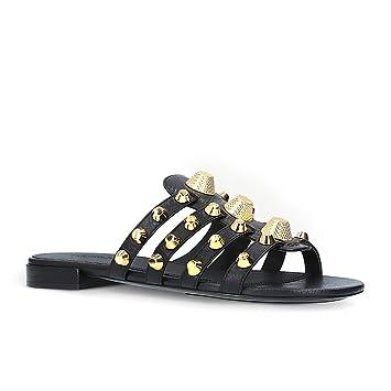HN Shoes Damen Flache Sandalen Komfort Sandaletten Lack Schlappen Hausschuhe Strand Pantoletten Schuhe