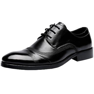 MYXUA Herren Business Casual Schuhe Hochzeit Schuhe