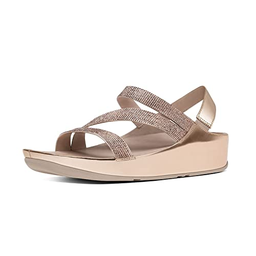 5c8bbb4836a74 fitflop Women s Crystall Z-Strap Sandals Rose Gold 08.5  Amazon.ca ...