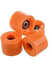 soccik Juego de ruedas de skateboard monopatín ruedas 6 cm de diámetro y 4,5